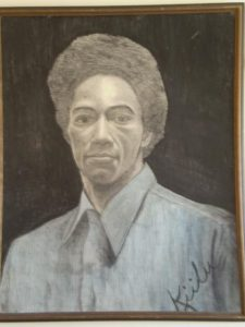 Ruchell-Cinque-Magee-portrait-art-by-Kiilu-1975-225x300, Ruchell Cinque Magee, sole survivor of the Aug. 7, 1970, Courthouse Slave Rebellion, Behind Enemy Lines