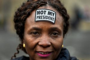 Womens-March-on-Washington-Not-My-President-on-Black-womans-forehead-012117-by-Wash-Post-web-300x200, Women march against Washington, World News & Views