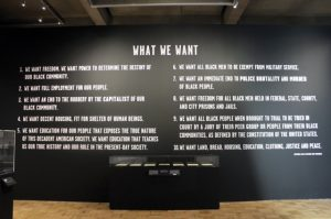 All-Power-to-the-People-Black-Panthers-at-50-exhibit-10-Point-Platform-Oakland-Museum-1016-0217-300x199, Wanda's Picks for February 2017, Culture Currents