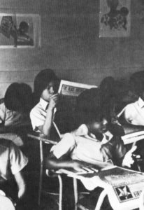 Children-reading-Black-Panther-newspaper-206x300, Black newspapers, now more than ever, must boldly tell the truth, National News & Views