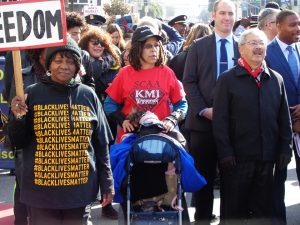 Martin-Luther-King-Day-Ed-Lee-marching-011617-by-Adilifu-Fundi-300x225, Baron Davis and SF King Day address next four chilling years, but ex-NBA star misses room's 'huge elephant', Local News & Views