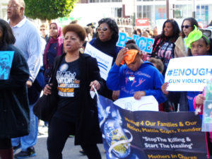 Martin-Luther-King-Day-Mattie-Scott-marching-011617-by-Adilifu-Fundi-300x225, Baron Davis and SF King Day address next four chilling years, but ex-NBA star misses room's 'huge elephant', Local News & Views