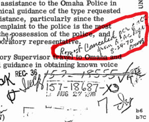 Omaha-2-FBI-memo-note-cancels-shooter-voice-test-082270-closeup-web-300x245, New release of Black Panther file reveals FBI rigged investigation of murdered policeman, Behind Enemy Lines