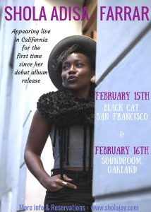 Shola-Adisa-Farrar-concert-0217-214x300, Wanda's Picks for February 2017, Culture Currents