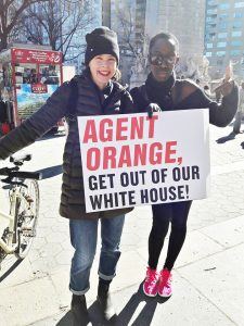 Jacqueline-Bediako-friend-protest-Agent-Orange-get-out-of-our-White-House-on-Presidents-Day-225x300, In the age of tomfoolery, we must see Black genius, Culture Currents