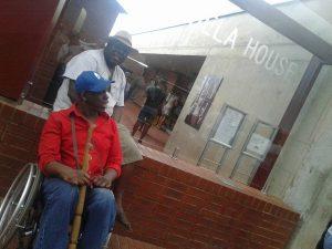 South-Africa-tour-Leroy-Moore-Simon-Manda-outside-Mandela's-home-Soweto-1216-300x225, Krip Hop Nation's Leroy Moore journeys to South Africa, World News & Views