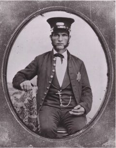 Augustus-Frederick-Johnson-wearing-first-Baltimore-police-uniform-badge-1857, 'The public peace': Race, class, control and the creation of the modern police in antebellum Baltimore, National News & Views