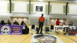 Community-townhall-w-Chief-Wm-Scott-Jeff-Stewart-speaks-panels-Mario-portrait-Joe-Lee-Gym-030917-300x169, Chief William Scott, SF's new Black police chief, meets the community, Local News & Views