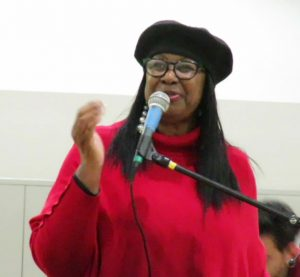 Phelicia-Jones-speaks-at-community-townhall-for-new-Chief-Scott-at-Joe-Lee-Gym-030917-300x277, Chief William Scott, SF's new Black police chief, meets the community, Local News & Views