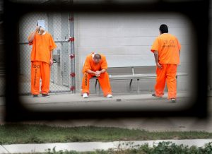Cali-prisoners-wait-for-appts-mental-health-clinic-by-Noah-Berger-Bloomberg-300x218, Losing direction: The abysmal history of mental health care at Pelican Bay State Prison, Behind Enemy Lines