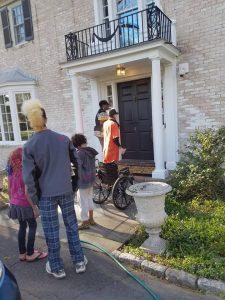 East-Coast-Stolen-Land-Tour-door-knocking-Pequot-Mohegan-Territory-Conn.-0417-by-PNN-225x300, Poor people on Park Avenue?, National News & Views