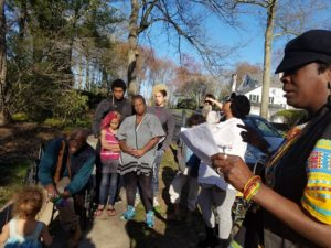 East-Coast-Stolen-Lands-Tour-Aunti-Frances-Moore-launches-tour-in-PequotMohegan-Territory-Leroy-Moore-Melissa-Moore-her-family-look-on-0417-by-PNN-300x225, Poor people on Park Avenue?, National News & Views