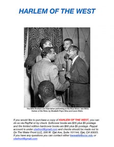 Harlem-of-the-West-book-ordering-info-w-Mills-Bros-pic-web-232x300, 'Harlem of the West – The San Francisco Fillmore Jazz Era': See the exhibit, read the book, Culture Currents