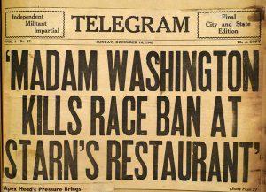 Madam-Washington-kills-race-ban-banner-headline-Telegram-newspaper-121645-web-300x217, SF Black Film Fest doc chronicles Atlantic City's Madame of Black hair, Culture Currents