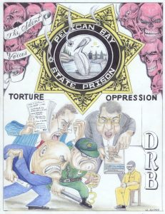 Pelican-Bay-State-Prison-Torture-Oppression-DRB-vs.-The-Silent-Voices-art-by-Michael-D.-Russell-0515-web-231x300, Losing direction: The abysmal history of mental health care at Pelican Bay State Prison, Behind Enemy Lines