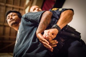Berkeley-Urban-Shield-Council-vote-BPD-puts-banner-holder-Samir-Shtha-in-pain-hold-on-stage-062017-by-Brooke-Anderson-web-300x200, Defending sanctuary and fighting for abolition: It's our time to be bold, Local News & Views