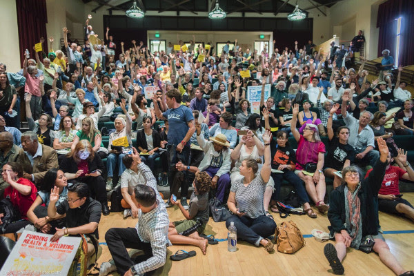 Berkeley-Urban-Shield-Council-vote-crowd-of-500-by-Critical-Resistance, The federalization of local police: Why the Urban Shield vote failed, Local News & Views