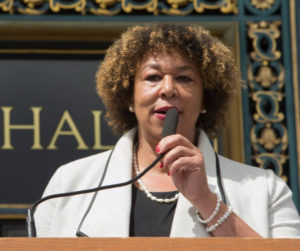 Carol-McGruder-co-chair-AATCLC-speaks-press-conf-on-menthol-flavored-tobacco-ban-City-Hall-041817-by-Malaika-300x251, San Francisco bans flavored tobacco sales, Local News & Views