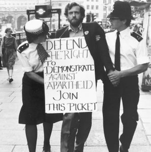 Jeremy-Corbyn-arrested-for-protesting-Apartheid-outside-South-African-embassy-London-1984-298x300, Jeremy Corbyn wants to lay the white man's burden down, World News & Views