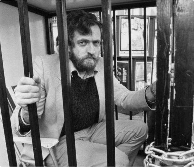 Jeremy-Corbyn-in-'jail-cell'-demonstrates-support-for-Northern-Ireland-independence-1980s, Jeremy Corbyn wants to lay the white man's burden down, World News & Views