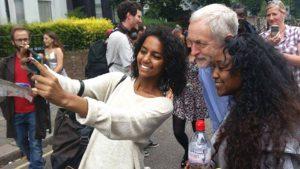 Jeremy-Corbyn-young-Black-women-supporters-take-selfie-0915-300x169, Jeremy Corbyn wants to lay the white man's burden down, World News & Views