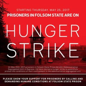 Old-Folsom-Hunger-Strike-poster-300x300, Palestinian prisoners support network stands in solidarity with U.S. prisoners on hunger strike in Folsom State Prison, while celebrating Palestinian hunger strikers' victory, Behind Enemy Lines