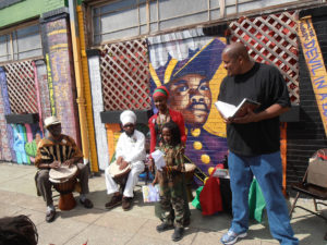 Marcus-Books-Garvey-b'day-celebration-Nefertina-son-Prince-Amari-Baba-Posey-read-Garvey-Jahahara-Jah-Creation-drum-Oakland-2013-web-300x225, Baba Jahahara: Black August 2017, Local News & Views