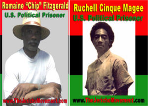 Romaine-Chip-Fitzgerald-Ruchell-Cinque-Magee-by-Jericho-Movement-300x215, Free California political prisoners Romaine 'Chip' Fitzgerald and Ruchell 'Cinque' Magee, Behind Enemy Lines