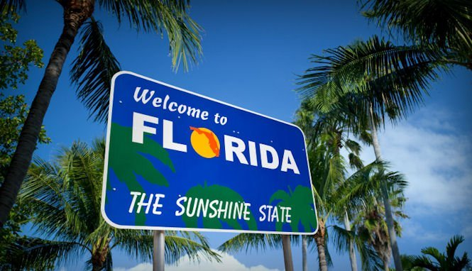 Welcome-to-Florida-highway-sign, Rashid: I'm off to Florida and a new phase of reprisals for publicizing abuses in US prisons, Behind Enemy Lines