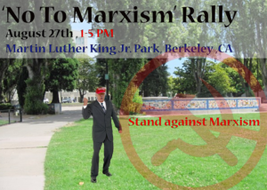 No-To-Marxism'-Rally-in-Berkeley-082717-poster-web-300x214, Protesting, glorifying and justifying white supremacy by the Bay, Local News & Views