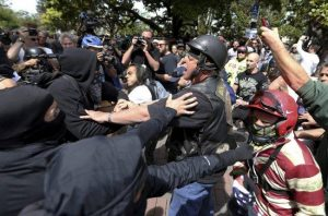 Berkeley-police-separate-pro-Trump-Antifa-041517-300x198, Protesting, glorifying and justifying white supremacy by the Bay, Local News & Views