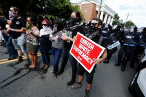 Charlottesville-protesters-counter-protest-to-preserve-Robert-E.-Lee-statue-081217-300x200, Protesting, glorifying and justifying white supremacy by the Bay, Local News & Views