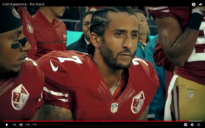 Eric-Reid-Colin-Kaepernick-kneel-during-national-anthem-49ers-game-091816-closeup-300x188, NFL 'Blackout' for Kaepernick, National News & Views