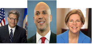 Franken-Booker-Warren-by-Ann-300x143, Sens. Cory Booker, Al Franken and Elizabeth Warren propose that the U.S. 'prevent genocide', World News & Views