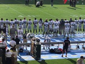 Michael-Bennett-sat-alone-on-bench-during-national-anthem-Seattle-Seahawks-first-preseason-game-081217-300x225, Protests supporting Colin Kaepernick planned for NFL's first week, Culture Currents