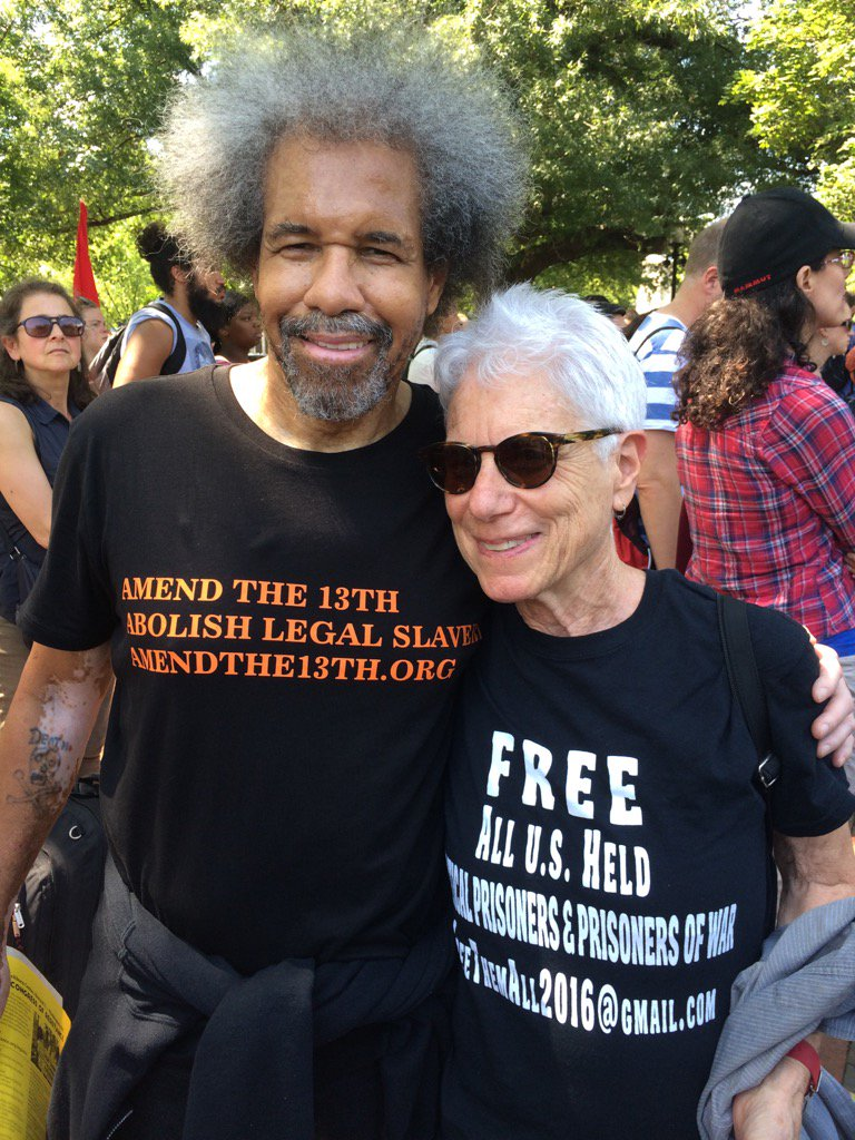 Millions-for-Prisoners-DC-Albert-Woodfox-supporter-Laura-Whitehorn-081917, Millions for Prisoners Human Rights: Marchers in DC and San Jose demand abolition of slavery, National News & Views