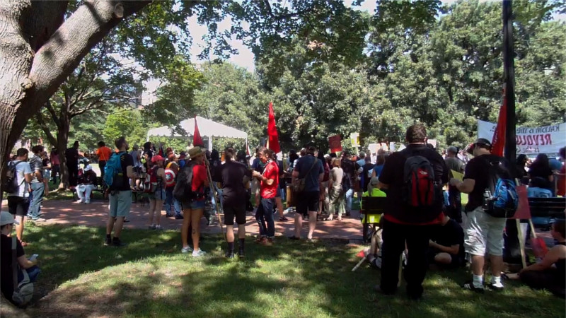 Millions-for-Prisoners-DC-gathering-Lafayette-Park-across-from-White-House-081917-by-Luke-Indymedia, Millions for Prisoners Human Rights: Marchers in DC and San Jose demand abolition of slavery, National News & Views