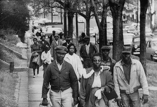 Montgomery-Bus-Boycott-walking-to-work-1956, We must affect the bottom line, Behind Enemy Lines