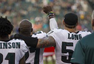 Philadelphia-Eagles-Chris-Long-supports-fist-raising-Malcolm-Jenkins-081717-web-300x205, NFL 'Blackout' for Kaepernick, National News & Views