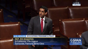 Rep.-Ro-Khanna-votes-No-on-HR2018-Nat'l-Defense-Authorization-Act-for-696-billion-071317-by-C-Span-web-300x169, U.S. budget priorities, National News & Views