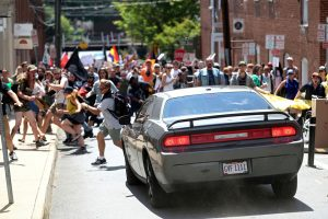 Unite-the-Right-Rally-car-aims-to-plow-into-counterdemonstration-crowd-Charlottesville-Va.-081217-by-Ryan-M.-Kelly-Daily-Progress-AP-web-300x200, Fast and fatal: Car plows into crowd protesting Unite the Right rally to save Robert E. Lee statue in Charlottesville park, National News & Views