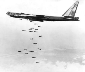 B-52-Stratofortress-drops-string-of-750-pound-bombs-on-Vietnam-1065-by-U.S.-Air-Force-300x253, Ken Burns' and Lynn Novick's 'The Vietnam War' mandates we examine ourselves, our nation, World News & Views