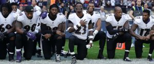 Baltimore-Ravens-kneel-before-NFL-game-against-Jacksonville-Jaguars-at-Wembley-Stadium-London-092417-300x126, For the NFL, it was 'Choose your side Sunday', National News & Views