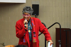 Beverly-Taylor-of-Network-for-Elders-opens-Transportation-Fair-080817-SE-Campus-by-Judy-Goddess-web-300x200, Elders speak out at Transit Fair held at City College Southeast Campus, Local News & Views