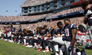 Boston-Patriots-kneel-092417-by-AP-300x179, For the NFL, it was 'Choose your side Sunday', National News & Views