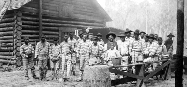 Georgia-forced-labor-camp-c.-1932-by-John-Spivak-children-too, US prisons practice the same slavery and racism celebrated by Confederate monuments, Behind Enemy Lines