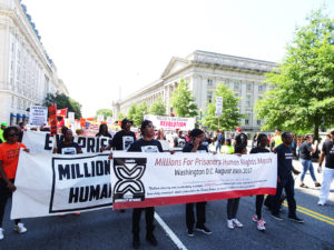 Millions-for-Prisoners-DC-march-Freedom-Square-to-Lafayette-Park-with-banners-081917-by-Wanda-web-300x225, Millions for Prisoners Human Rights March in Washington, D.C., National News & Views