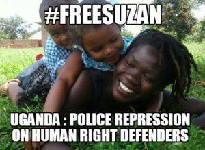 Free-Suzan-Uganda-Police-Repression-on-Human-Right-Defenders-meme-300x219, Solidarity Uganda: Rural Ugandans resist land grabbing and US-backed dictatorship, World News & Views