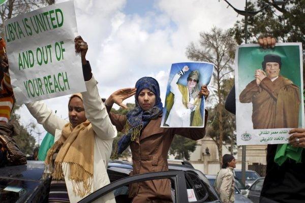 Libyan-women-protest-Libya-is-united-and-out-of-your-reach, Remembering Muammar Qaddafi and the great Libyan Jamahiriya, World News & Views