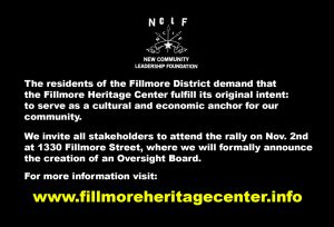 Save-Fillmore-Heritage-Center-Nov.-2-poster-1017-2-300x204, New Community Leadership Foundation announces creation of Oversight Board for Fillmore Heritage Center, Local News & Views